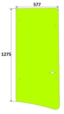 Стекло боковое Cat 416C, 426C, 428C, 436C, 438C