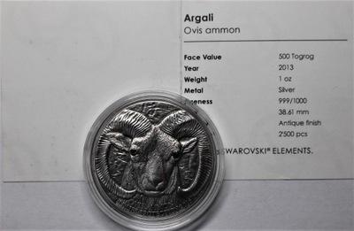 Монголия 2013 - 500 Togrog - овца ARGALI (ZB)