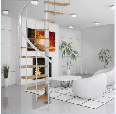 Промо! Лестница Вьющиеся Калгари White 120 см.