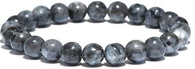 BRANSOLETKA z kamienia LABRADORYT koraliki 8 mm
