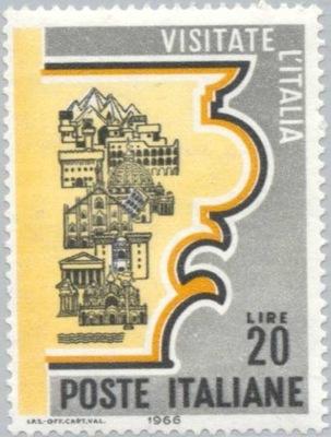 Италия 1966 Марку Мне 1210 ** туризм достопримечательности