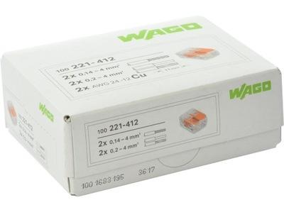 WAGO rýchly konektor, drôty, káble 2x4 pôvodné 100ks