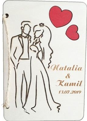 Открытка свадебная телеграмма деревянный гравер , пожелания