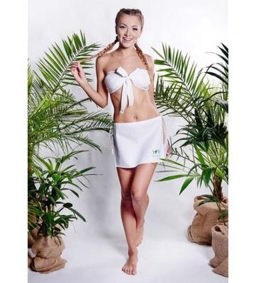 Šaty pre sauna ASILI sukne bez nohavičky M béžová YEYE