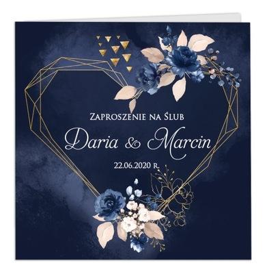 Zaproszenia ślubne Rustykalne Boho Florencja SERCE