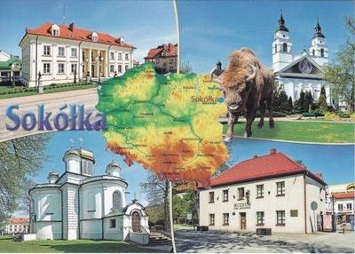SOKÓŁKA - KOŚCIÓŁ - RATUSZ- CERKIEW- MUZEUM- MAPKA