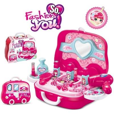 Toaletný stolík pre dievčatá, make-up zrkadlo 529