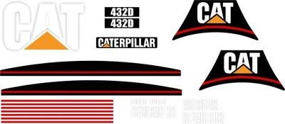 наклейки Cat 432D Гусеница ЭКСКАВАТОР погрузчик