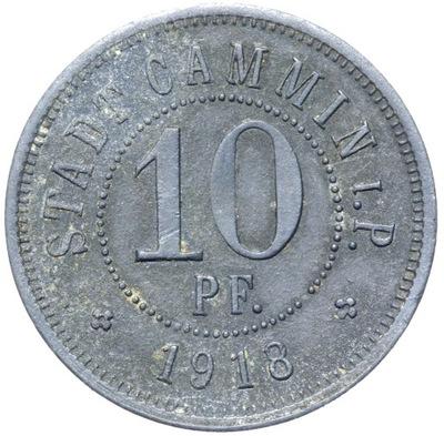+ Cammin камень Поморский - 10 Pfennig 1918 - ЦИНК