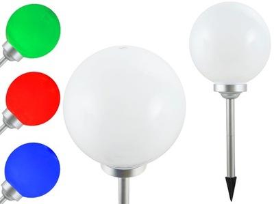 солнечная лампа для сада белая шар 30cm RGB PR30