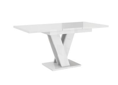 современный стол раскладной Белый блеск 120-160/80