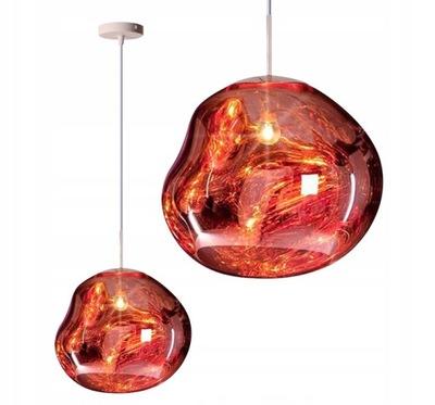 stropné svietidlo SKLENENÝ PRÍVESOK lampa LAVA RED PRIEMYSELNÉ