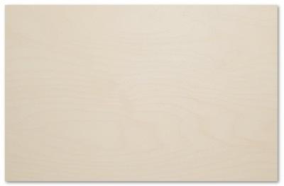 Фанера Тополь 3 класс 2 форма 60х40 см светлая