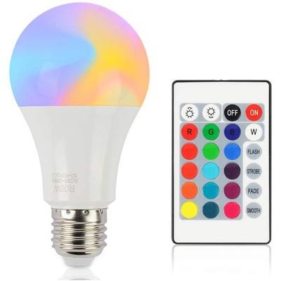 ЛАМПА RGB LED ??? + пульт 9 E27 ДИСКО ЛАМПА