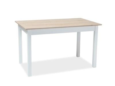 Stół rozkładany Horacy 75x125 dąb sonoma/biały