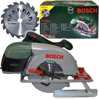 пила круглая 1200W PKS 55A Bosch + 2 ПИЛЫ