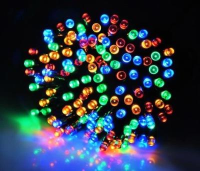 LAMPKI CHOINKOWE 300 LED WIELOKOLOROWE NA ZEWNĄTRZ