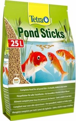 TETRA POND STICKS 25 L KŔMIŤ RYBY KOI pond