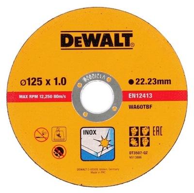 диск ??? резки стали Стали DeWalt 125x1mm DT3507