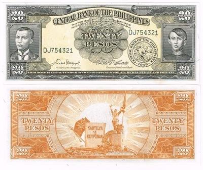 Банкнота Филиппины 20 мексиканское English P-137d UNC Промо