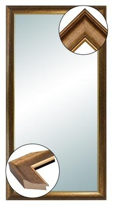 зеркало в раме ДЕРЕВЯННОЙ 140x60 ЗОЛОТЫЕ МЕДНЫЕ