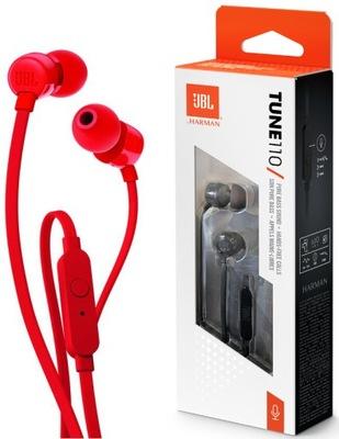 Słuchawki douszne JBL T110 z MIKROFON do TELEFONU