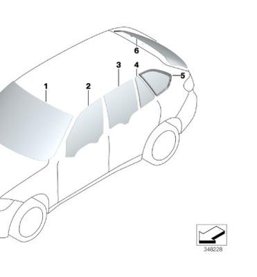 СТЕКЛО ЗАД ЗАД BMW X5 F15