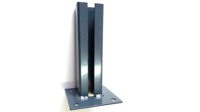 Основа столбика нога 60х40 оцинкованный +ral прикручиваемая