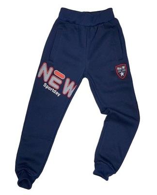 OCIEPLONE spodnie MODERN r 14 - 152/158 cm GRANAT