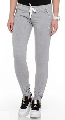 Adidas SLIM FT TP. Spodnie dresowe damskie szare, rozmiar