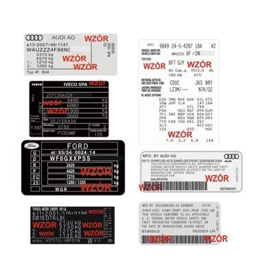 Табличка, наклейка все марки hiQ
