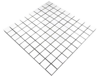 Мозаика GRESOWA белая блеск WHITE BIANCO 30х30