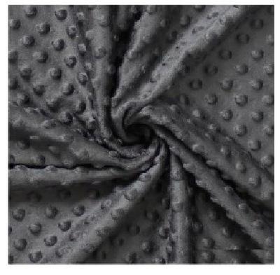 Ткань ФЛИС Материал трикотаж MINKI тисненое точки