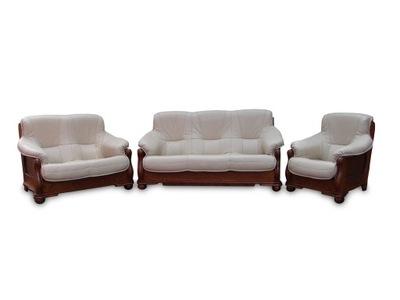 комплект кожаной мебели для отдыха диван-кровать кожа Дуб