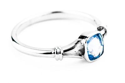 ПЛАТИНОВЫЙ кольцо С сапфировым покрытием 4 ,44g - ???-деко