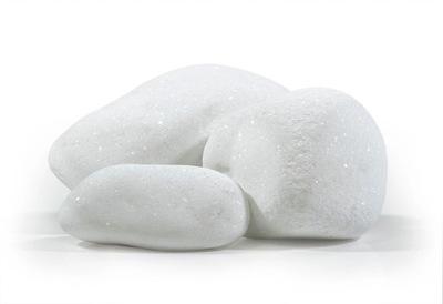 Галька Белый с блеском камень ??? Сада 25 кг