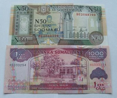 ZESTAW BANKNOTÓW SOMALIA - Z PACZKI BANKOWEJ