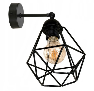 SCONCES DIAMOND zápästie vintage loft black