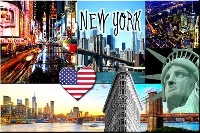США Новый - ЙОРК NY СТАТУЯ МАГНИТ МАГНИТЫ НА ХОЛОДИЛЬНИК