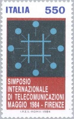 Италия 1984 Марку Мне, 1888 ** телекоммуникации
