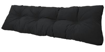 подушка на скамейку садовую качели 120x38 Черный
