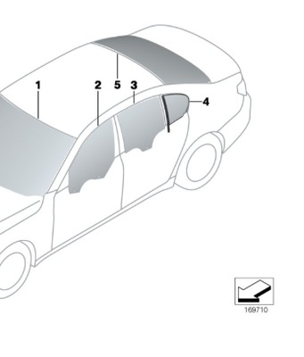 СТЕКЛО ЗАДНЯЯ ЗАДНЕЕ BMW 7 F01