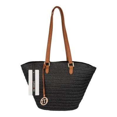 b05566f72c082 czarna torebka koszyk na lato, cekiny - 6144732575 - oficjalne ...