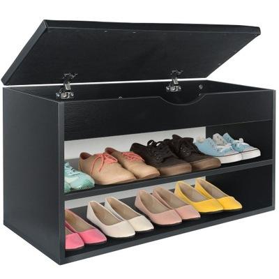 ШКАФ на обувь с СИДЕНЬЕМ и ОТСЕКОМ для хранения 80 Черный