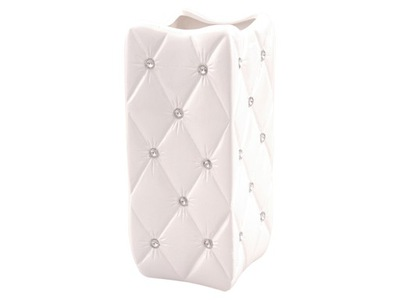 Ваза Белый Керамический кристаллы стразы гламур