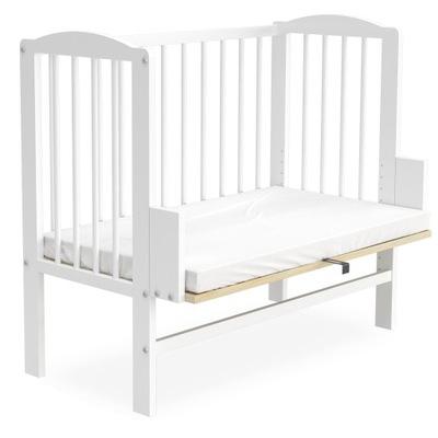 Кроватка dostawne / колыбель МАЯ белая + матрас