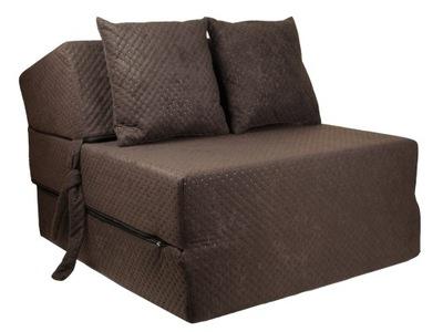 Кресло раскладной сложенный пуф materac15cm диван