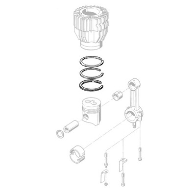 HATZ 00571410 поршневые Кольца STD E75
