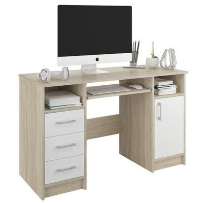 Компьютерный стол столик 124cm сонома белое N11