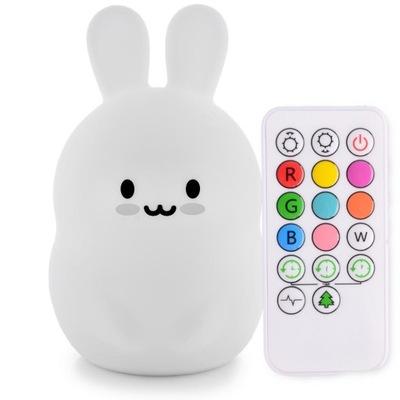 лампа НОЧНАЯ LED кролик пульт МНОГОЦВЕТНАЯ RGB